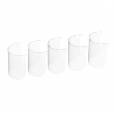 Replacement visor for face shield Premium,  set of 5