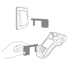 Key fob Safe contact with key ring
